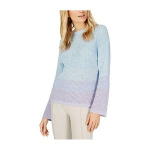INC Womens Sweater Knit Dip-Dye Shirt Crew Neck